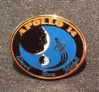 NASA Apollo Mission 14 Lapel Pin